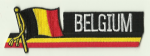 Belgium Embroidered Flag Patch, style 01.